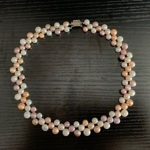 Jewelry - 3-color 3-layer freshwater pearl necklace